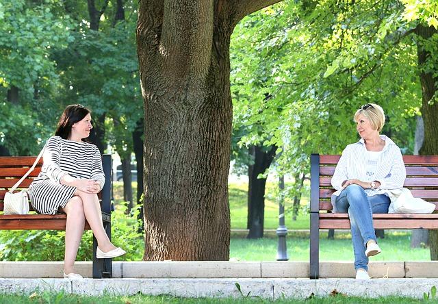 konverzace v parku