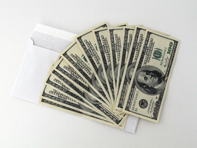 vějíř z dolarovek