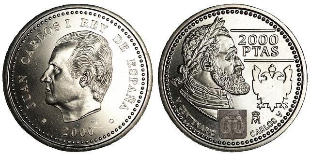 stříbrná mince, rub a líc